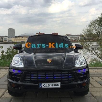 Электромобиль Porsche Cayenne (резиновые колеса, кожа, пульт, музыка, глянцевая покраска)