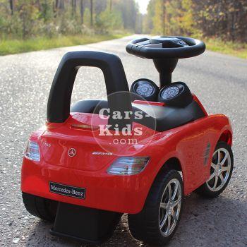 Толокар Mercedes SLS красный (музыка, гудок, бардачок)